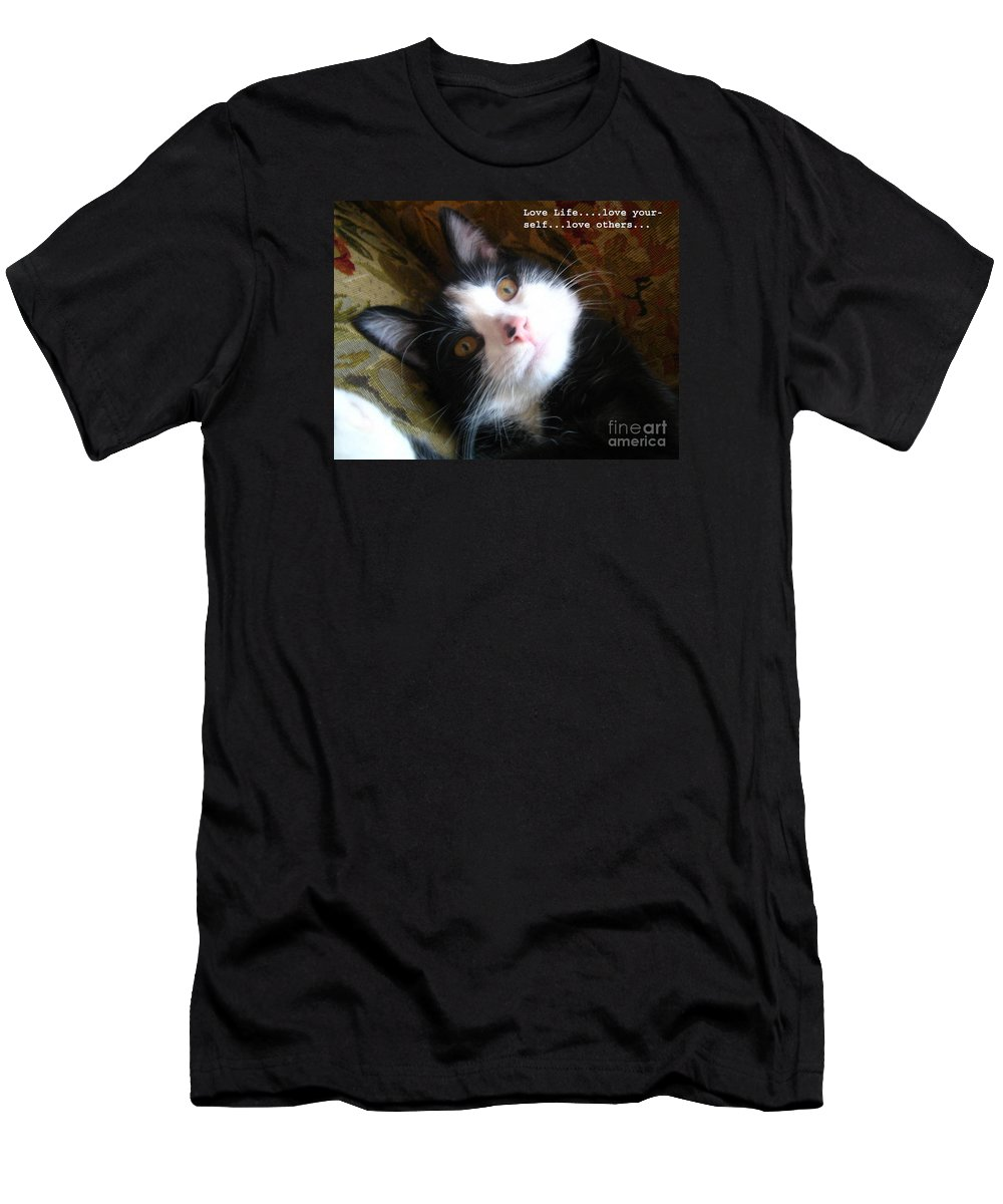 Photograph Men's T-Shirt (Athletic Fit) featuring the photograph Love Life by Reb Frost