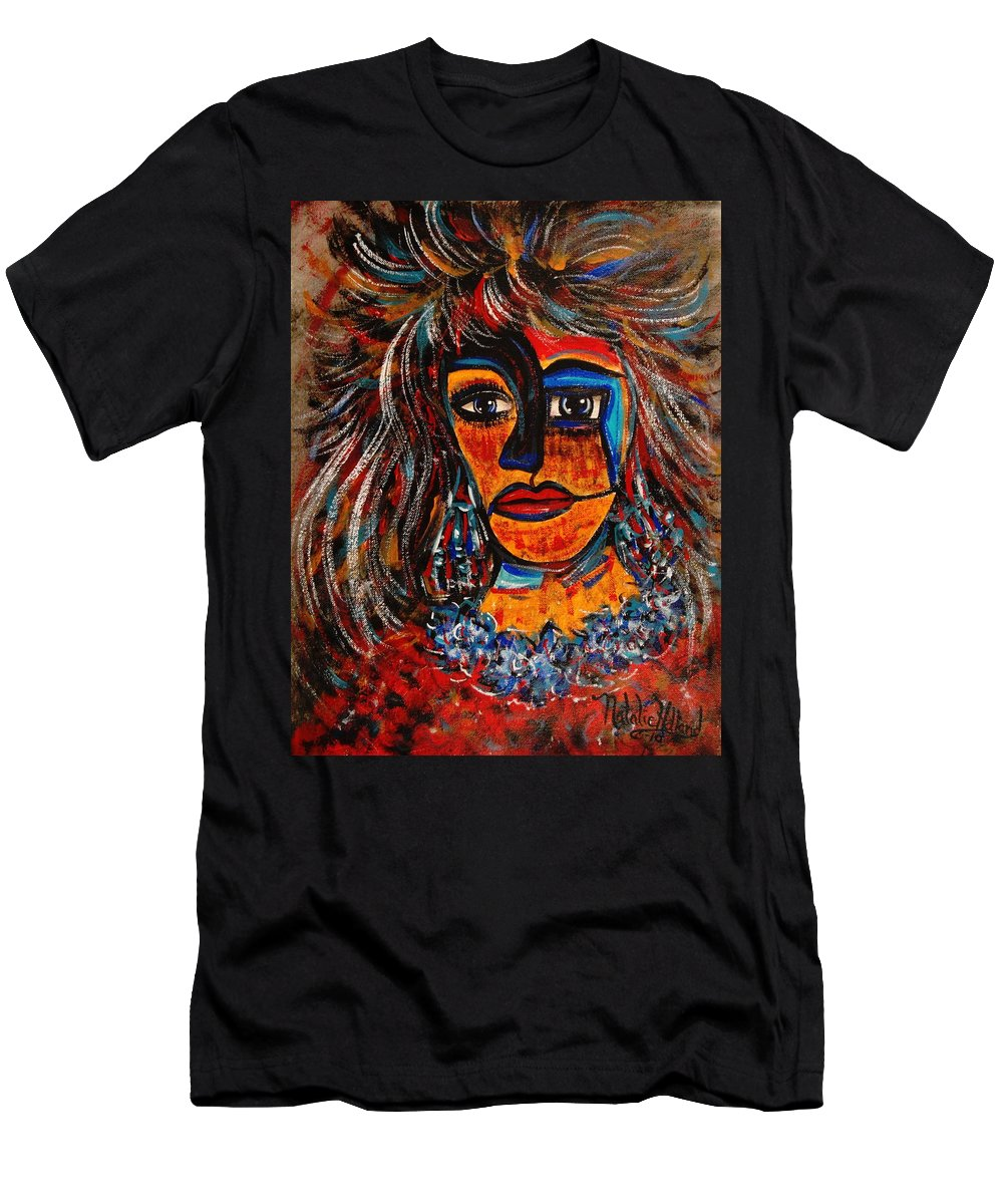 Expressionsim Men's T-Shirt (Athletic Fit) featuring the painting Love Me Or Leave Me by Natalie Holland