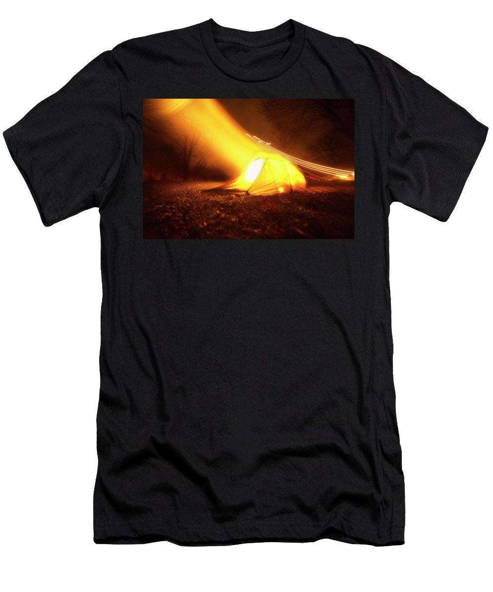 Abstract Men's T-Shirt (Athletic Fit) featuring the photograph Starship by Will Jacoby Artwork