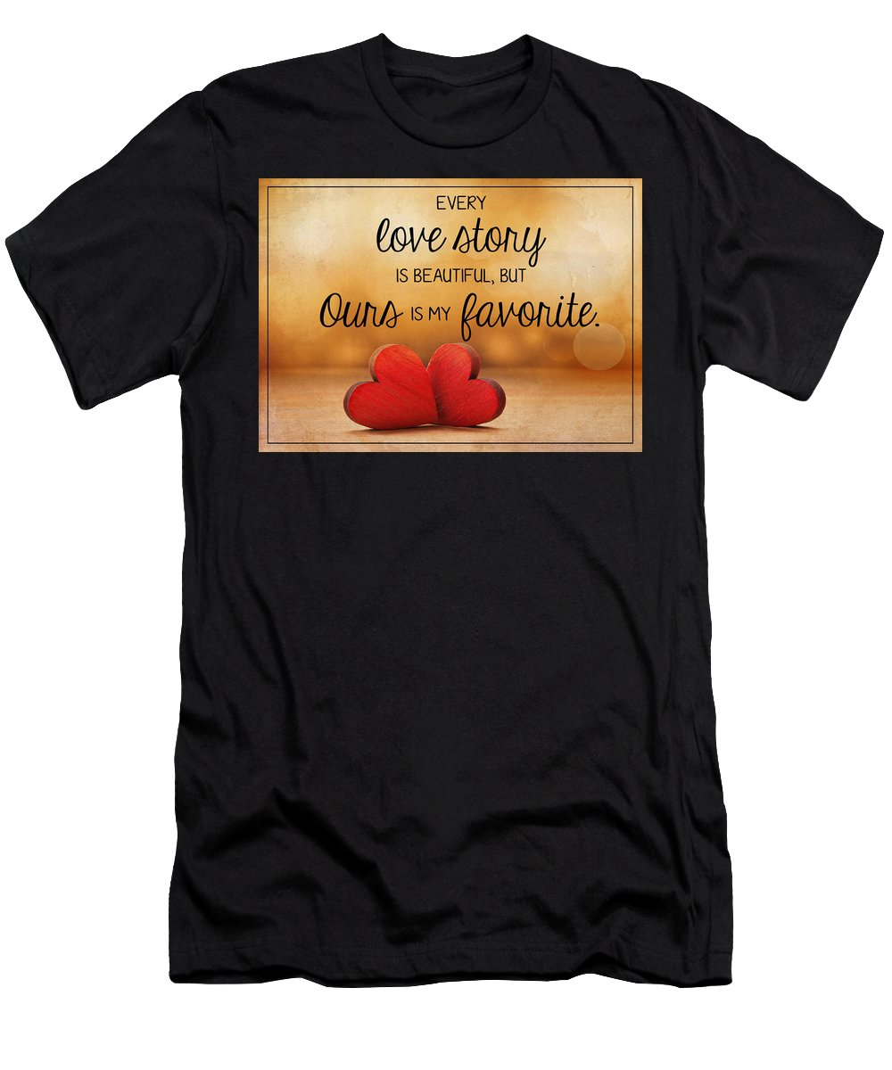 Love Men's T-Shirt (Athletic Fit) featuring the photograph Love Story by Teresa Wilson