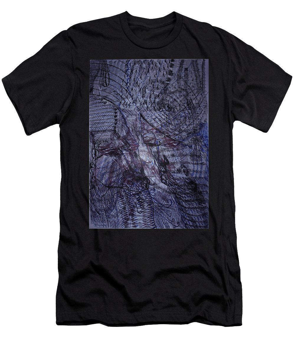 Love Men's T-Shirt (Athletic Fit) featuring the drawing Love Unspoken by Gloria Ssali