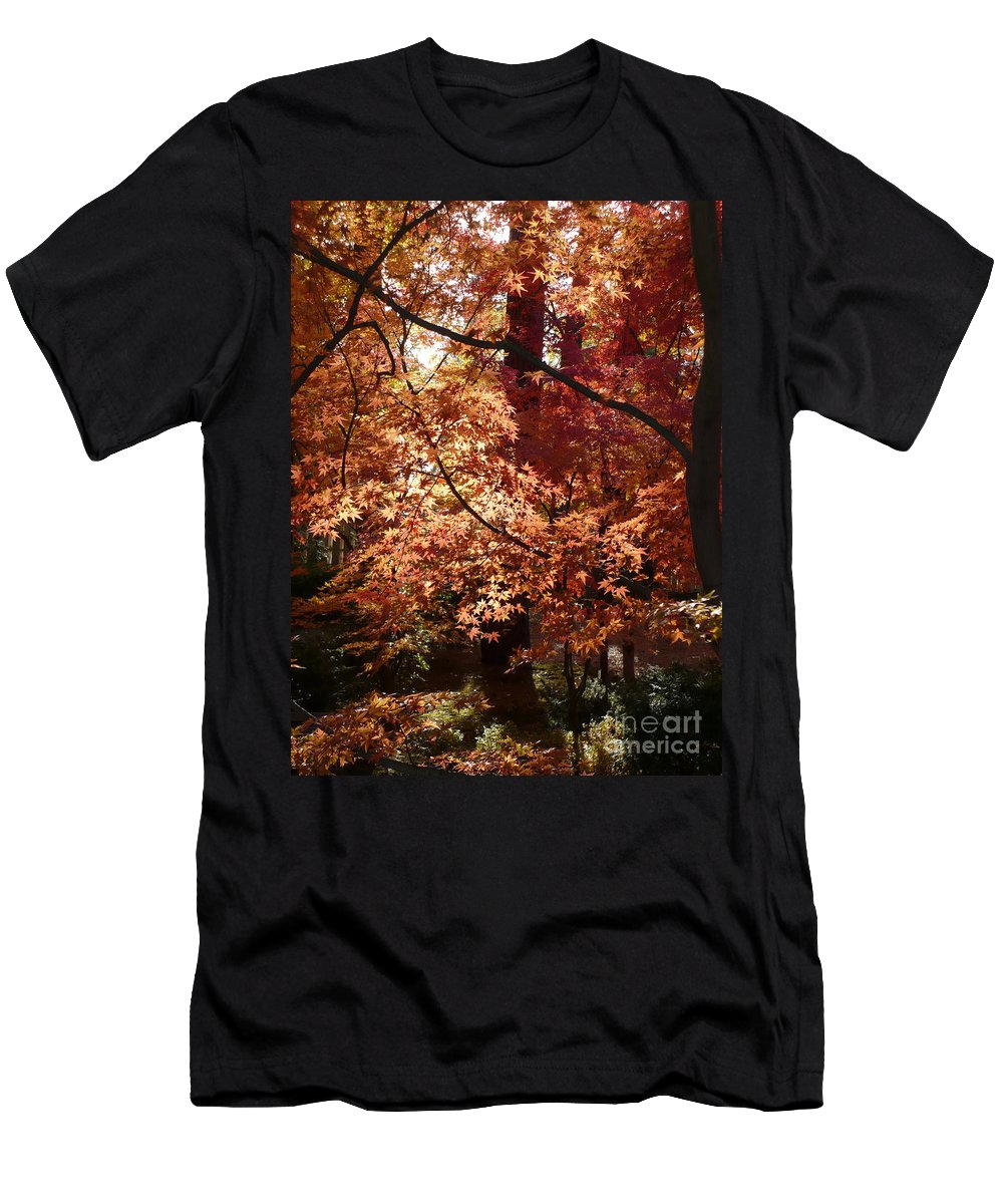 Fall Landscape Photograph Men's T-Shirt (Athletic Fit) featuring the photograph Lovely Autumn Tree by Carol Groenen