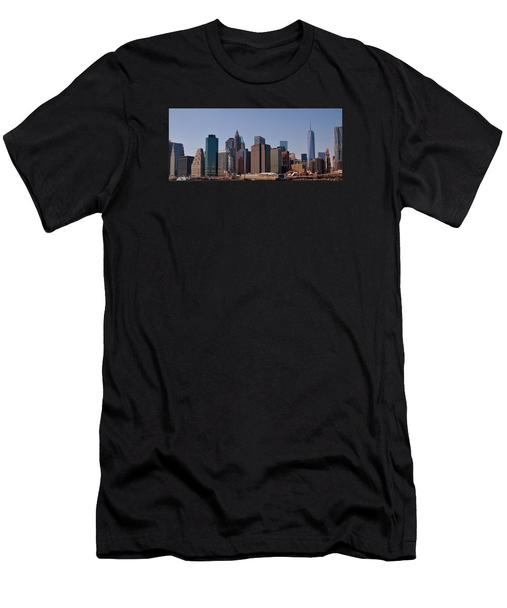 New York City Men's T-Shirt (Athletic Fit) featuring the photograph Lower Manhattan Nyc #2 by Christopher James