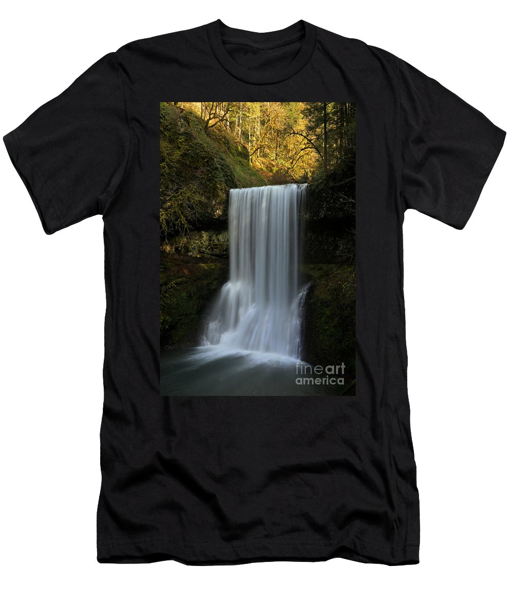 Lower South Falls Men's T-Shirt (Athletic Fit) featuring the photograph Lower South Falls Portrait by Adam Jewell