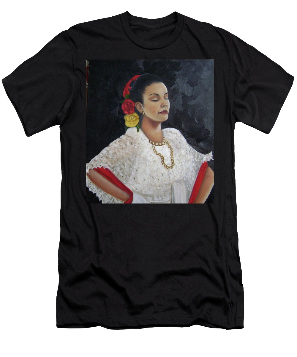 Men's T-Shirt (Athletic Fit) featuring the painting Lucinda by Toni Berry