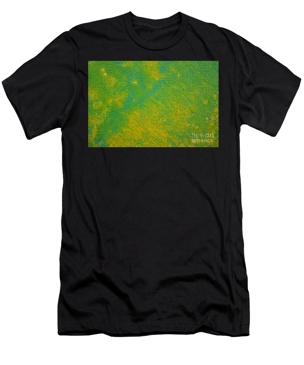 Green Men's T-Shirt (Athletic Fit) featuring the painting Lucky by Zack Anderson