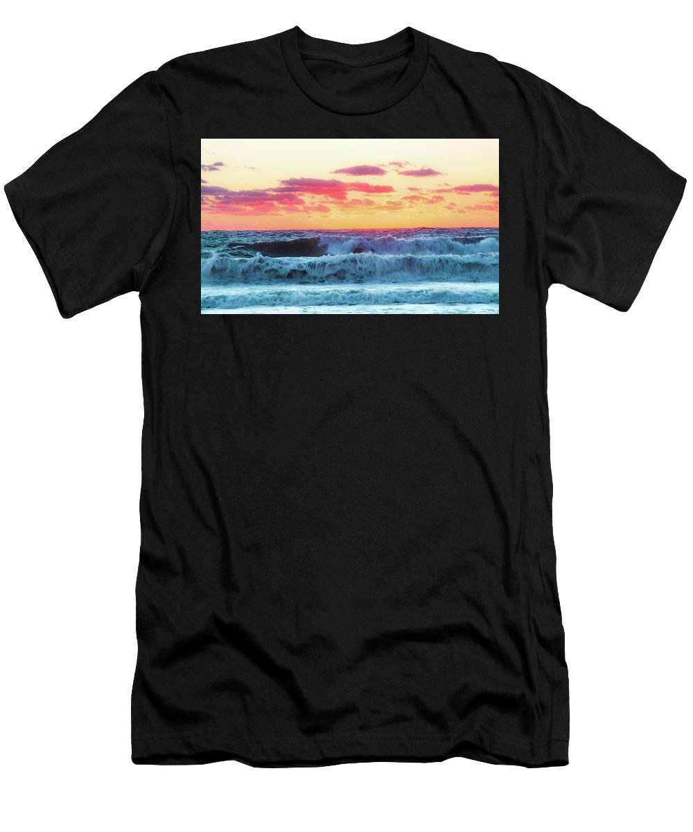 Lucy Vincent Beach Men's T-Shirt (Athletic Fit) featuring the photograph Lucy Vincent Surf by Island Images Gallery