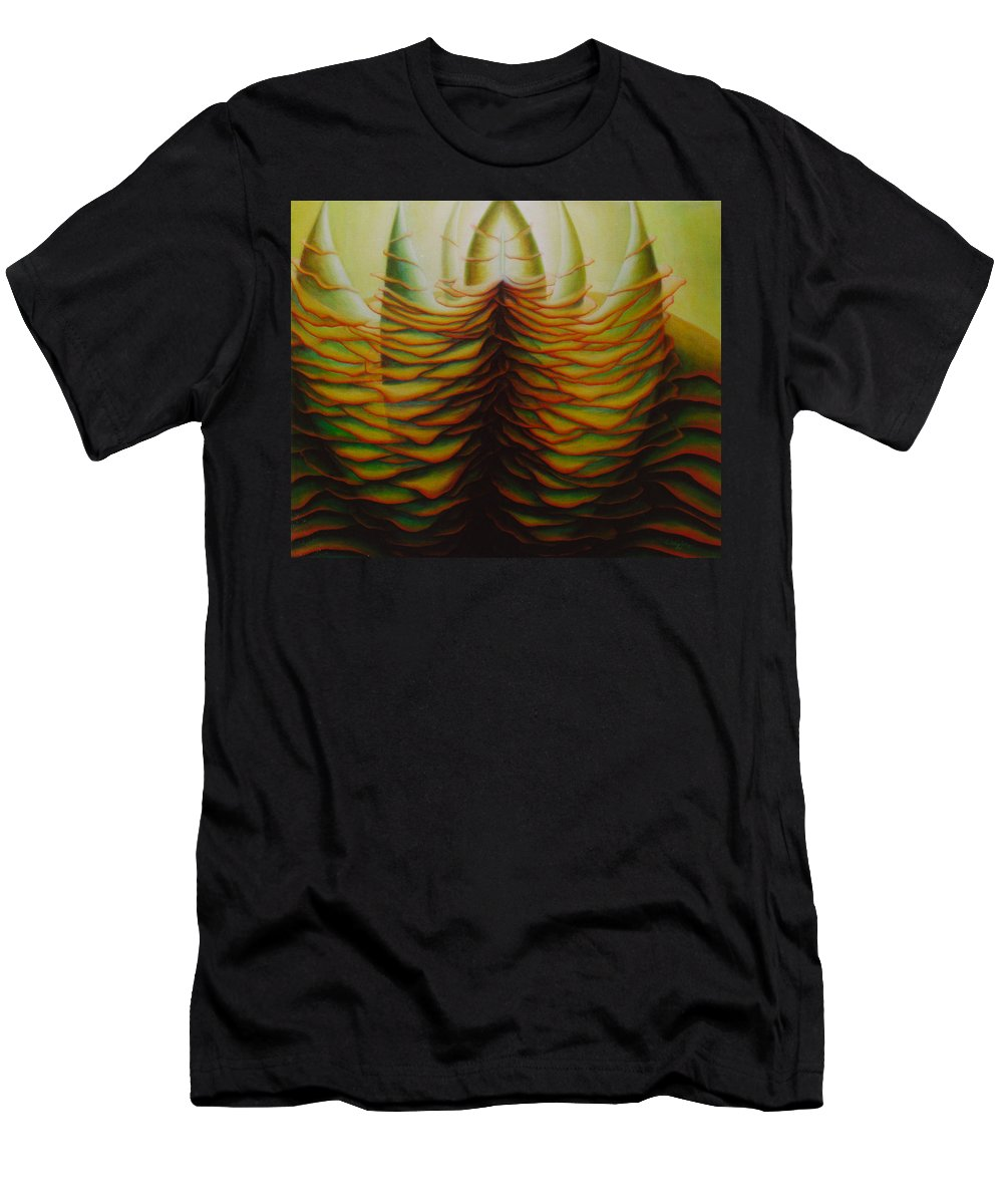 Spiritual Paintings Men's T-Shirt (Athletic Fit) featuring the painting Luminary by Nad Wolinska