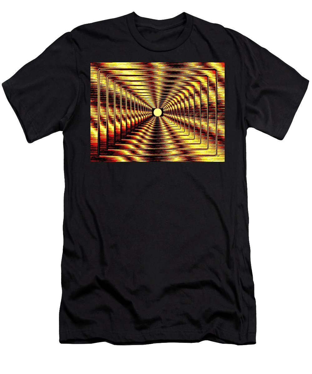 Abstract Men's T-Shirt (Athletic Fit) featuring the digital art Luminous Energy 2 by Will Borden