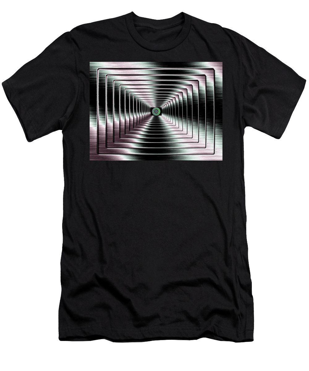 Abstract Men's T-Shirt (Athletic Fit) featuring the digital art Luminous Energy 4 by Will Borden