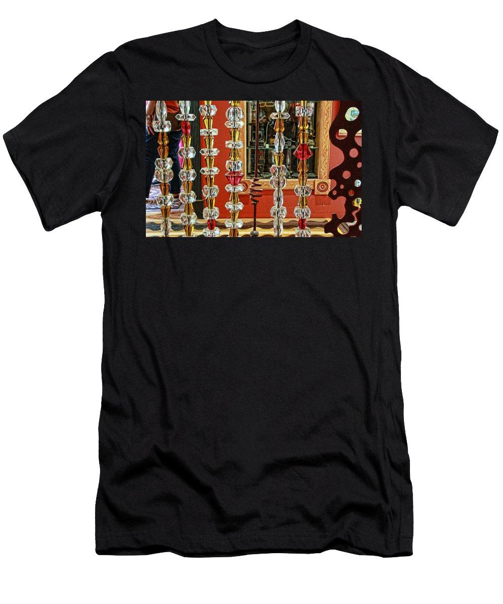 Luna Parc Men's T-Shirt (Athletic Fit) featuring the photograph Luna Parc 50 by Allen Beatty