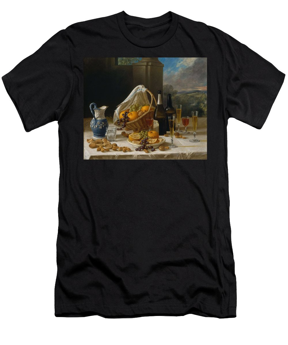 Nature Men's T-Shirt (Athletic Fit) featuring the painting Luncheon Still Life, At And By John F. Francis by John F Francis
