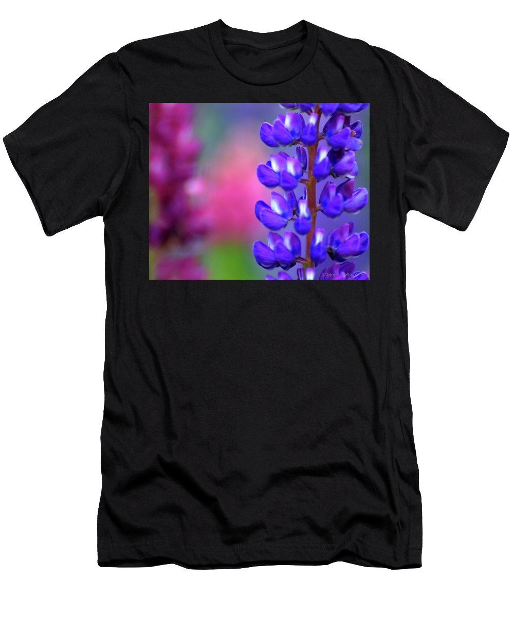 Canada Men's T-Shirt (Athletic Fit) featuring the photograph Lupins 36 by Rodger Wilkie