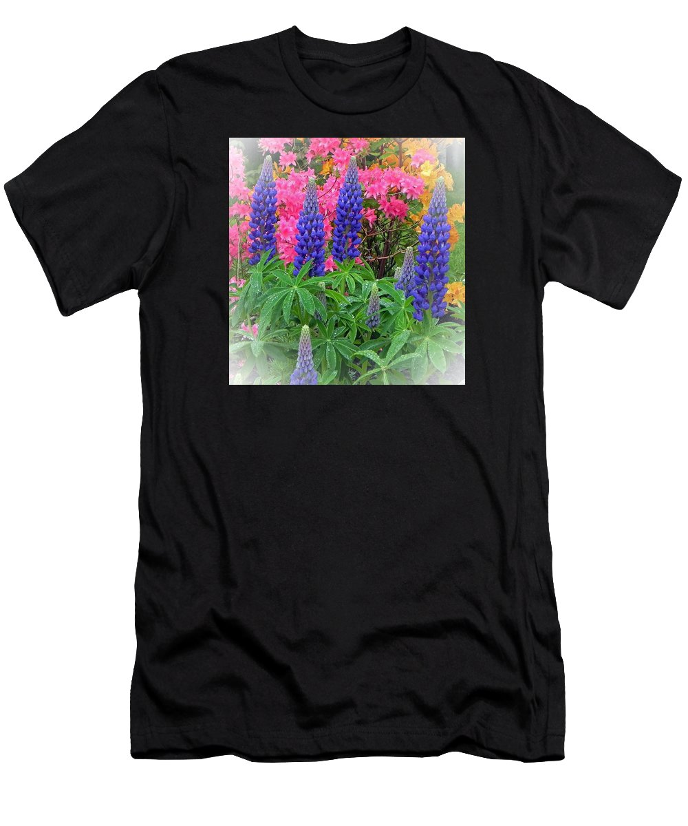 Lupins Men's T-Shirt (Athletic Fit) featuring the photograph Lupins by Juanita Albert