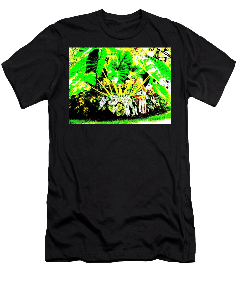 Plants Men's T-Shirt (Athletic Fit) featuring the photograph Lush Garden by Ed Smith