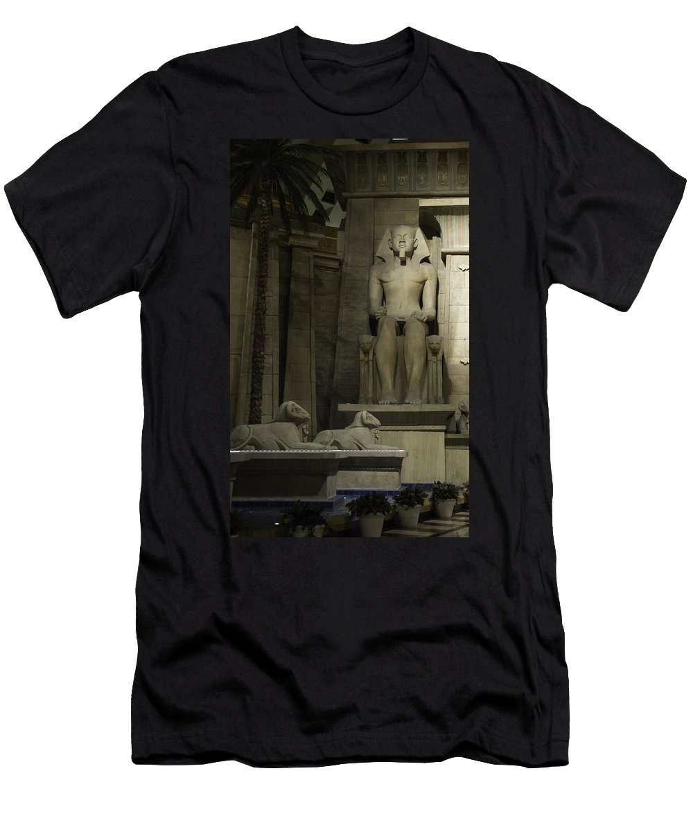 2015 Men's T-Shirt (Athletic Fit) featuring the photograph Luxor Interior 4 by Teresa Mucha