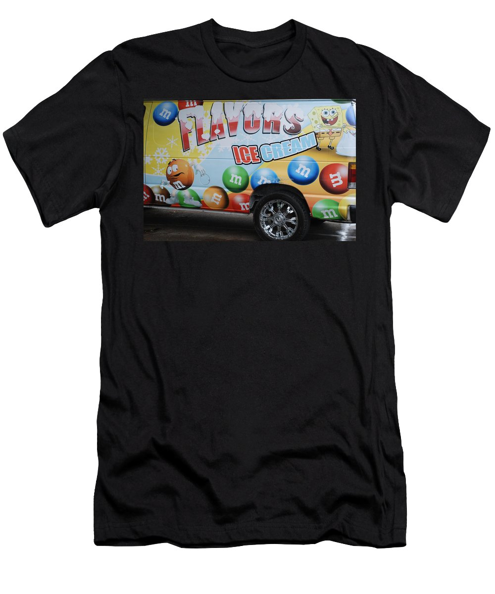 Sponge Bob Men's T-Shirt (Athletic Fit) featuring the photograph M And M Flavors For The Kids by Rob Hans