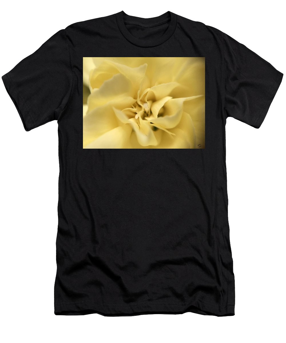 Yellow Men's T-Shirt (Athletic Fit) featuring the photograph Macro Yellow Rose by Marian Palucci-Lonzetta