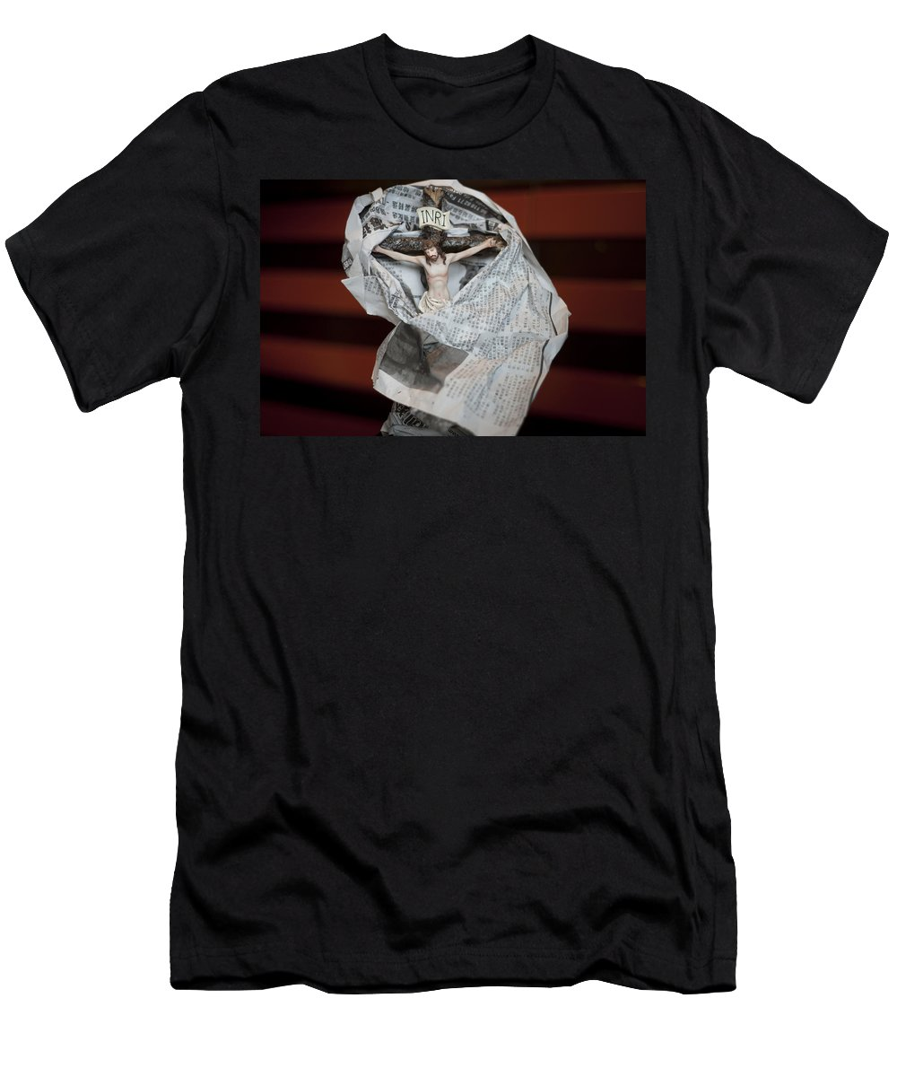 Spain Men's T-Shirt (Athletic Fit) featuring the photograph Made In China Christ by Rafa Rivas