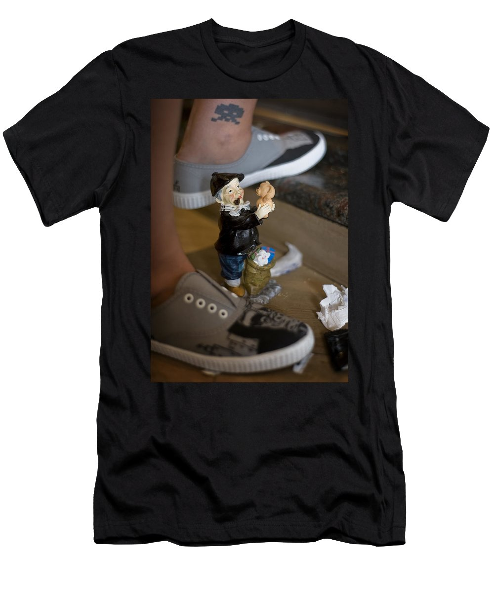 Spain Men's T-Shirt (Athletic Fit) featuring the photograph Made In China Olentzero by Rafa Rivas