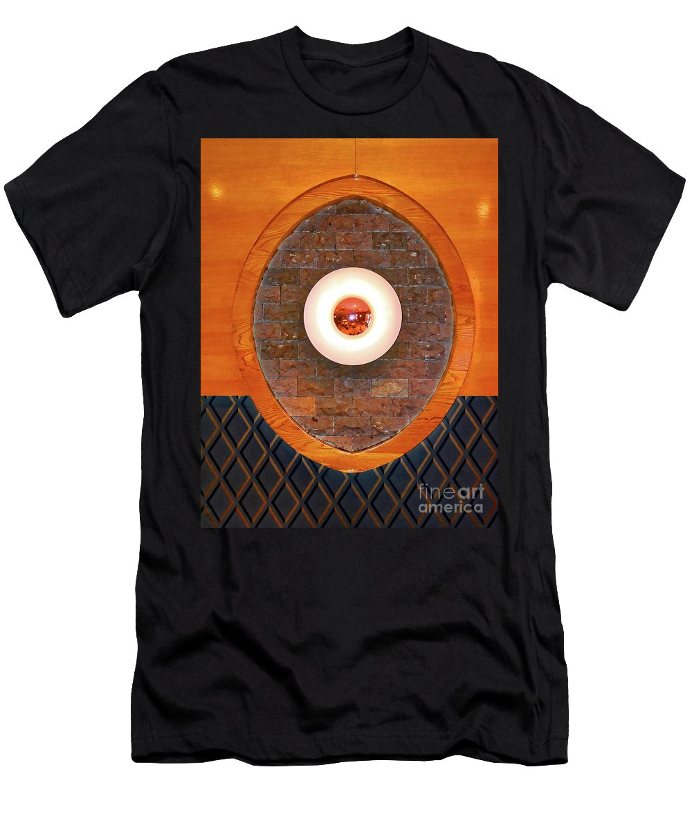 Art Men's T-Shirt (Athletic Fit) featuring the photograph Art Deco Cafe Wall Light by Wilf Doyle