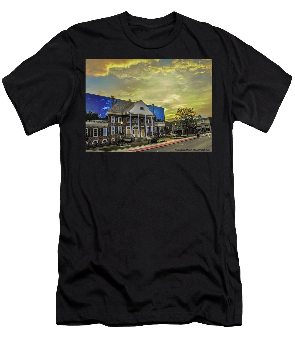 Sunrise Men's T-Shirt (Athletic Fit) featuring the photograph Madisonville Sunrise by Chad Fuller