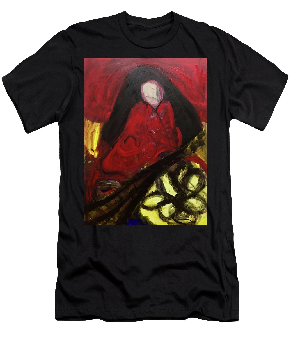 Abstract Men's T-Shirt (Athletic Fit) featuring the painting Madura by Nicole Saenz