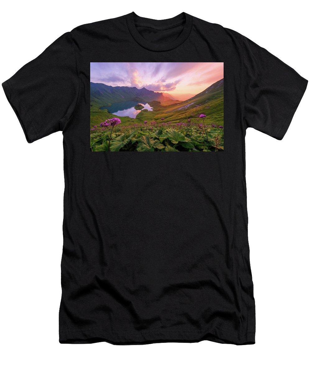 Landscape Men's T-Shirt (Athletic Fit) featuring the photograph Magic Allgaeu by Andreas Hagspiel