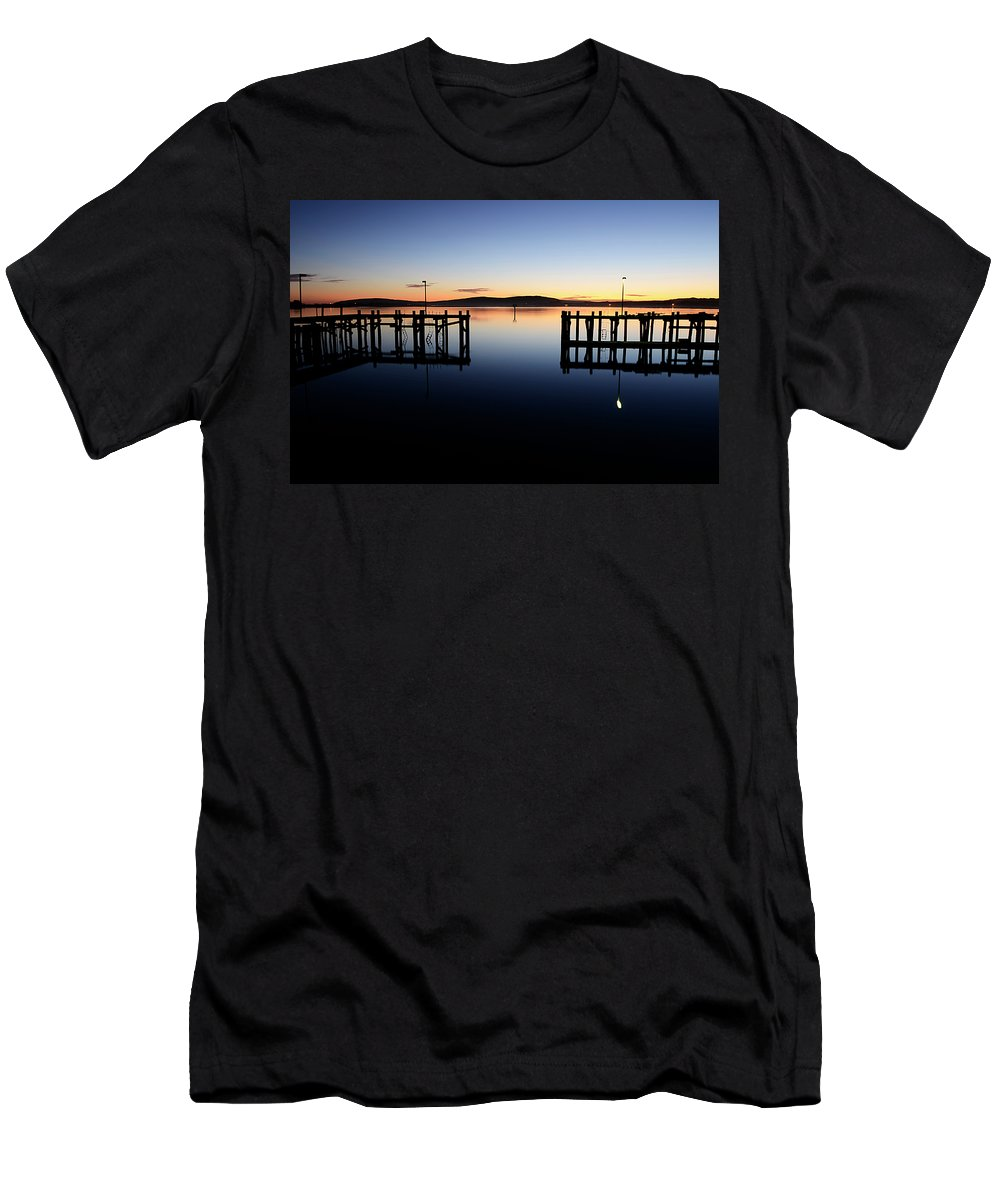 California Men's T-Shirt (Athletic Fit) featuring the photograph Magic At Bodega Bay California by Bob Christopher
