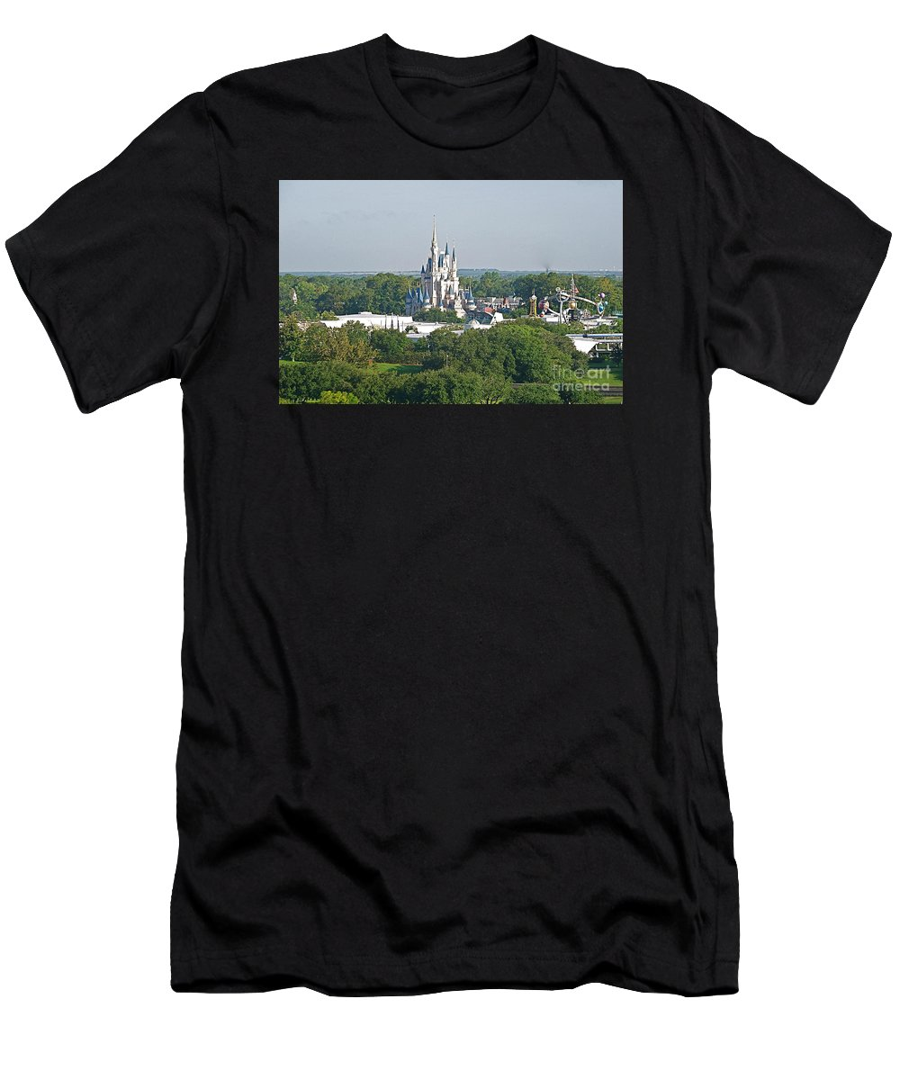 Wdw Men's T-Shirt (Athletic Fit) featuring the photograph Magic Kingdom by Carol Bradley