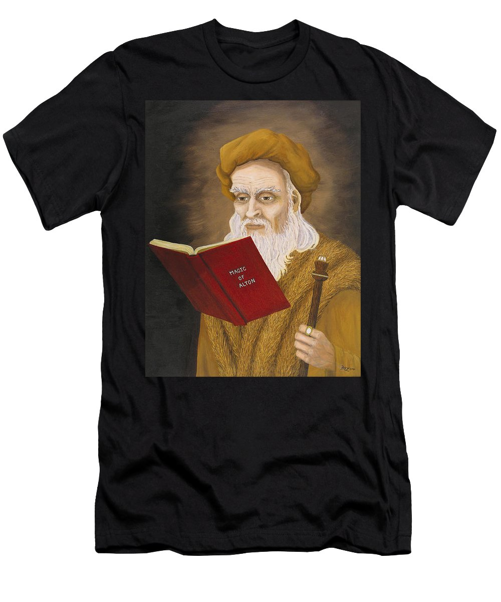 Magic Men's T-Shirt (Athletic Fit) featuring the painting Magic Of Alton by Roz Eve