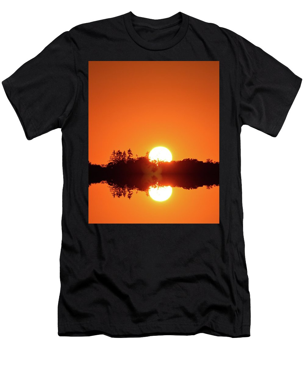 Abstract Men's T-Shirt (Athletic Fit) featuring the digital art Magic Sunset by Lyle Crump
