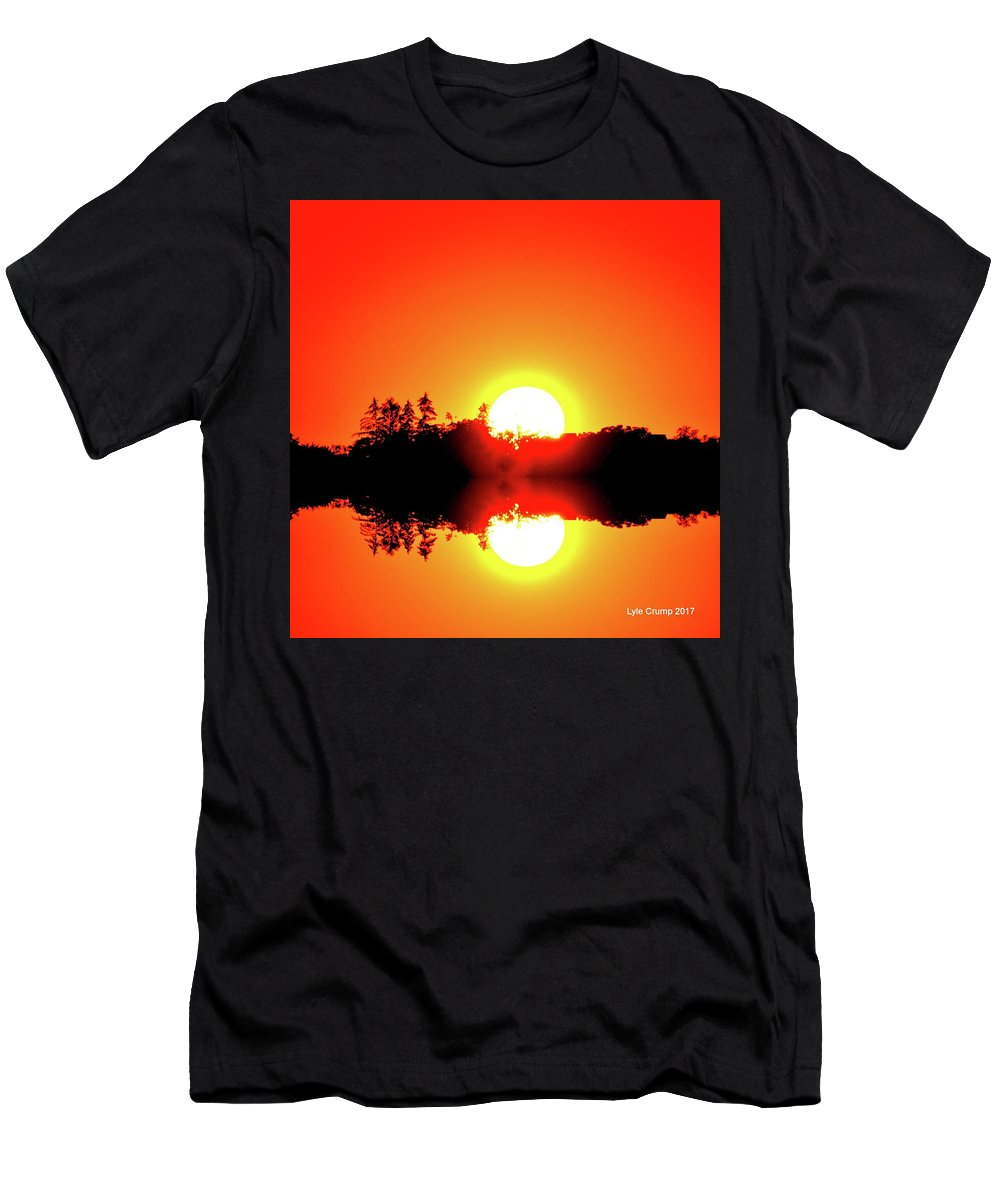 Abstract Men's T-Shirt (Athletic Fit) featuring the digital art Magic Sunset Two by Lyle Crump
