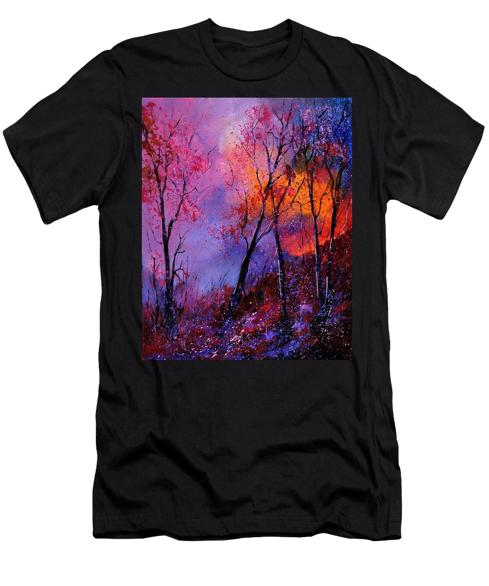 Landscape T-Shirt featuring the painting Magic trees by Pol Ledent