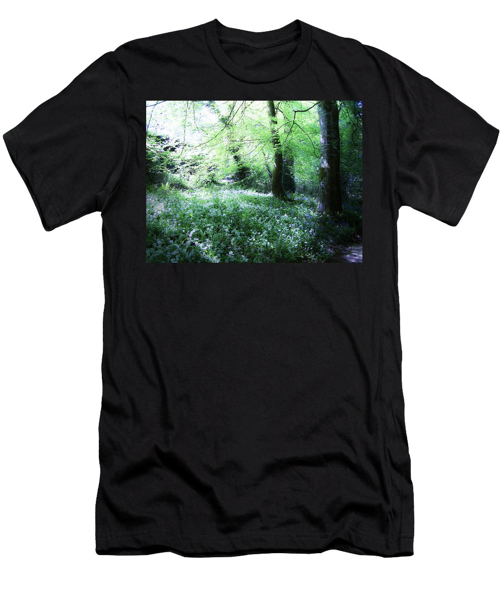 Irish Men's T-Shirt (Athletic Fit) featuring the photograph Magical Forest At Blarney Castle Ireland by Teresa Mucha