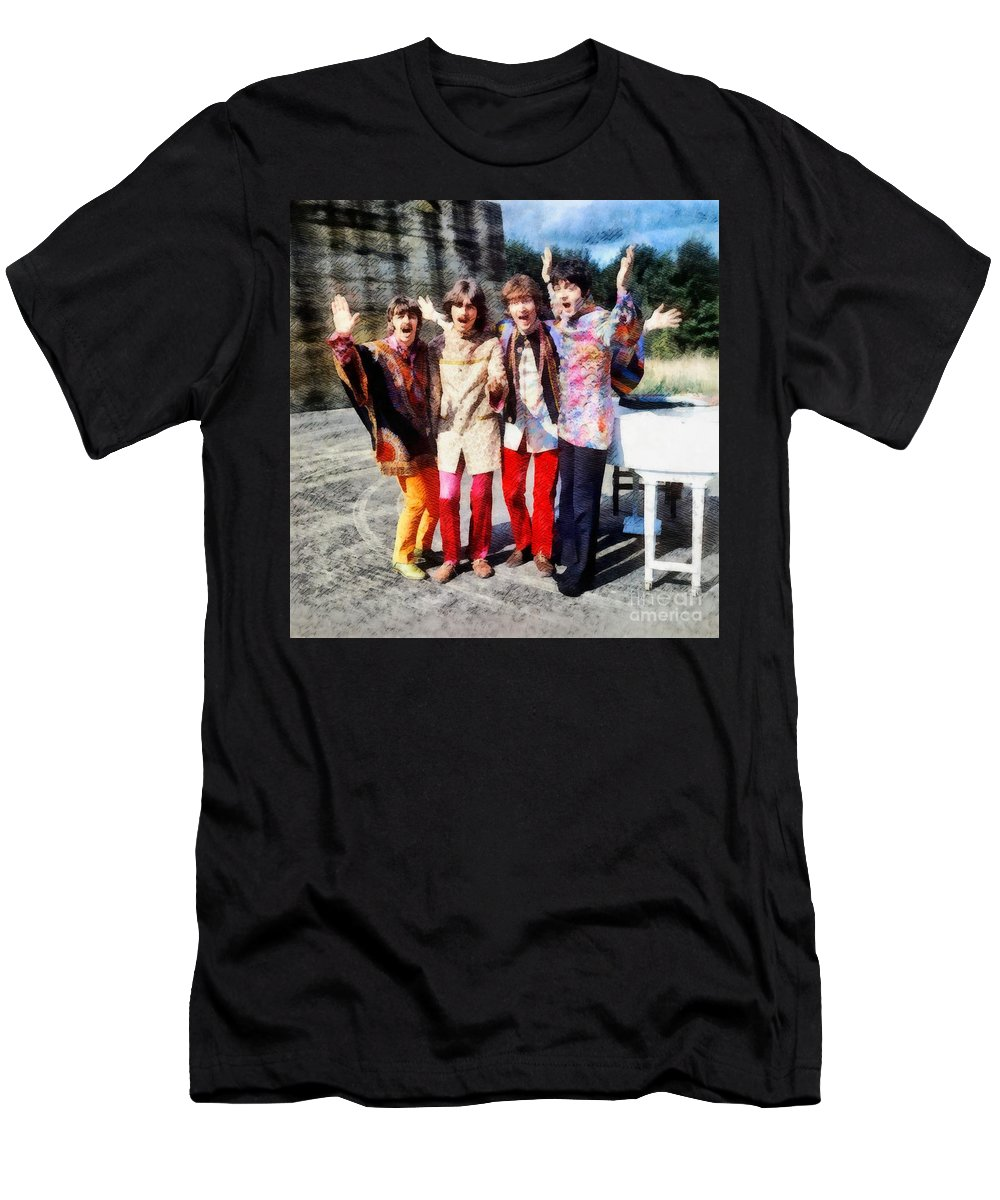 Hollywood T-Shirt featuring the painting Magical Mystery Tour, The Beatles by Esoterica Art Agency