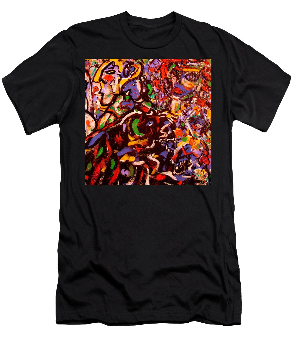 Abstract Men's T-Shirt (Athletic Fit) featuring the painting Magician by Natalie Holland