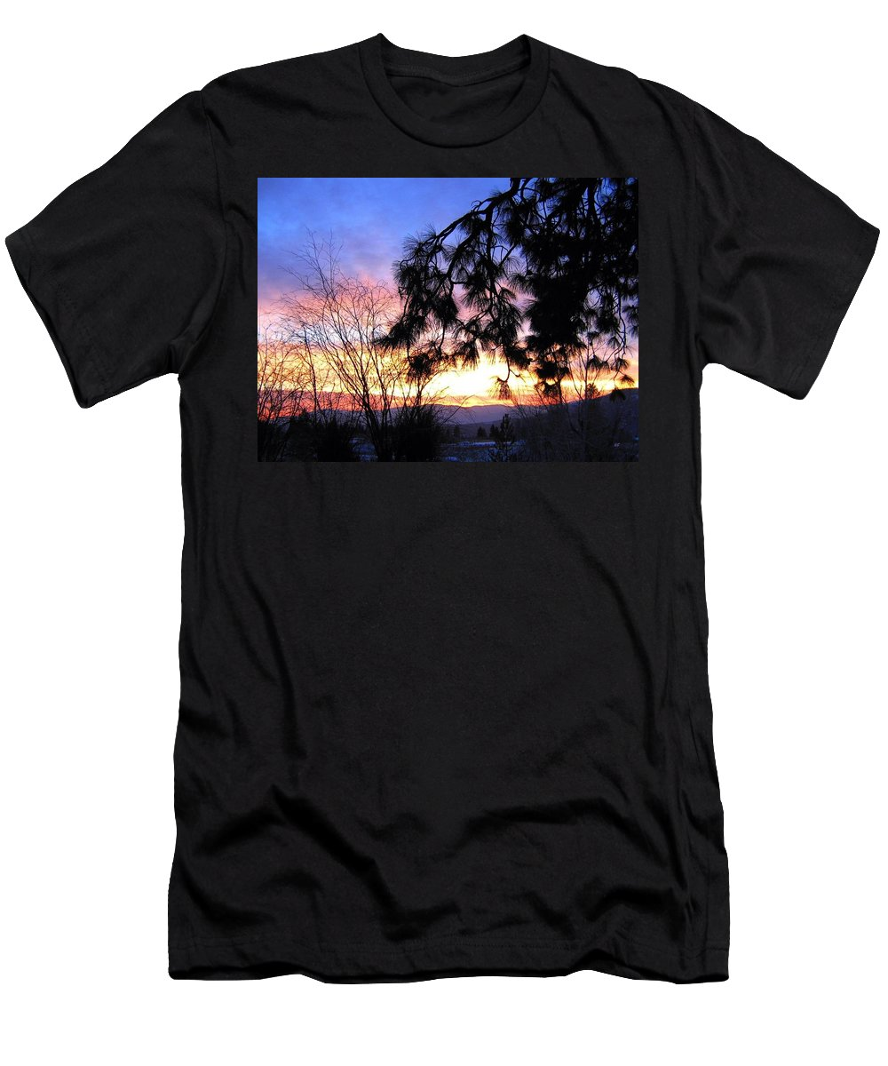 Magnificent Men's T-Shirt (Athletic Fit) featuring the photograph Magnificent Winter Sky by Will Borden
