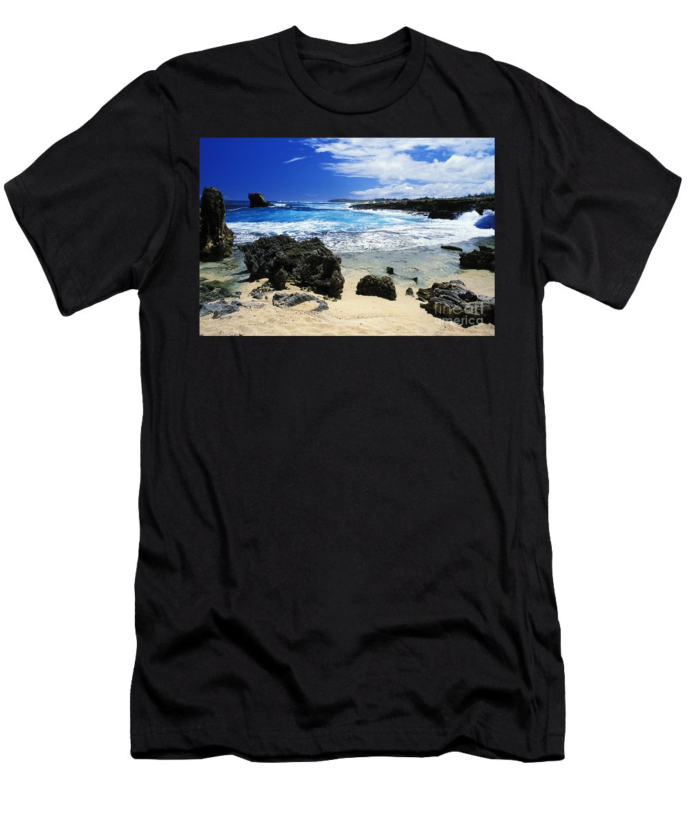 Beach Men's T-Shirt (Athletic Fit) featuring the photograph Mahaulepu Koloa Beach by Peter French - Printscapes