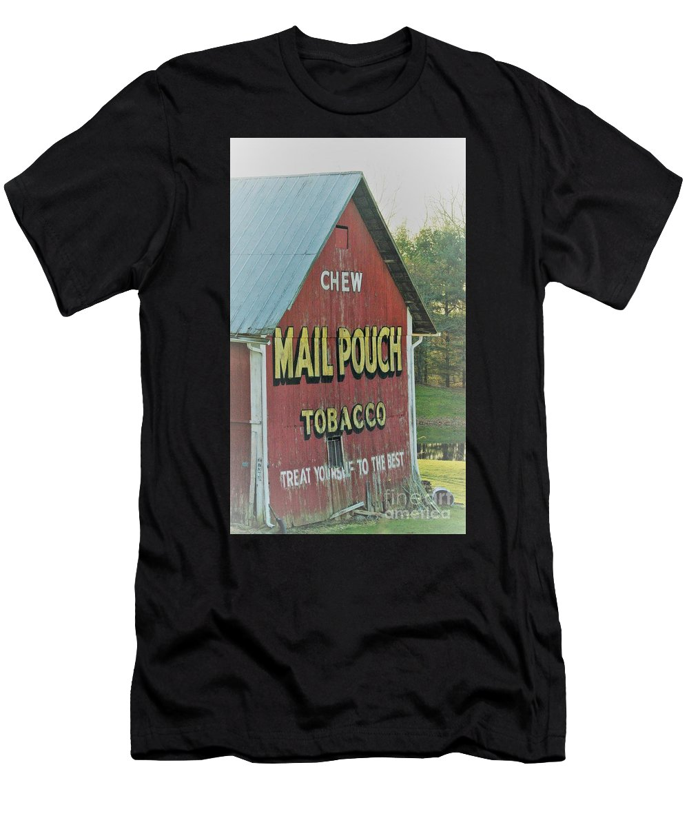 Barns Men's T-Shirt (Athletic Fit) featuring the photograph Mail Pouch Special by Judy Carr