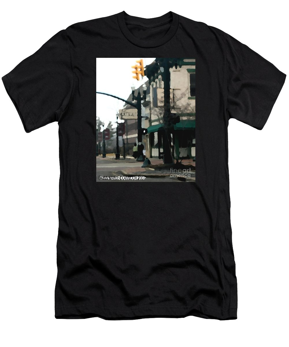 Landscape Men's T-Shirt (Athletic Fit) featuring the photograph Main Street by Dawn Downour