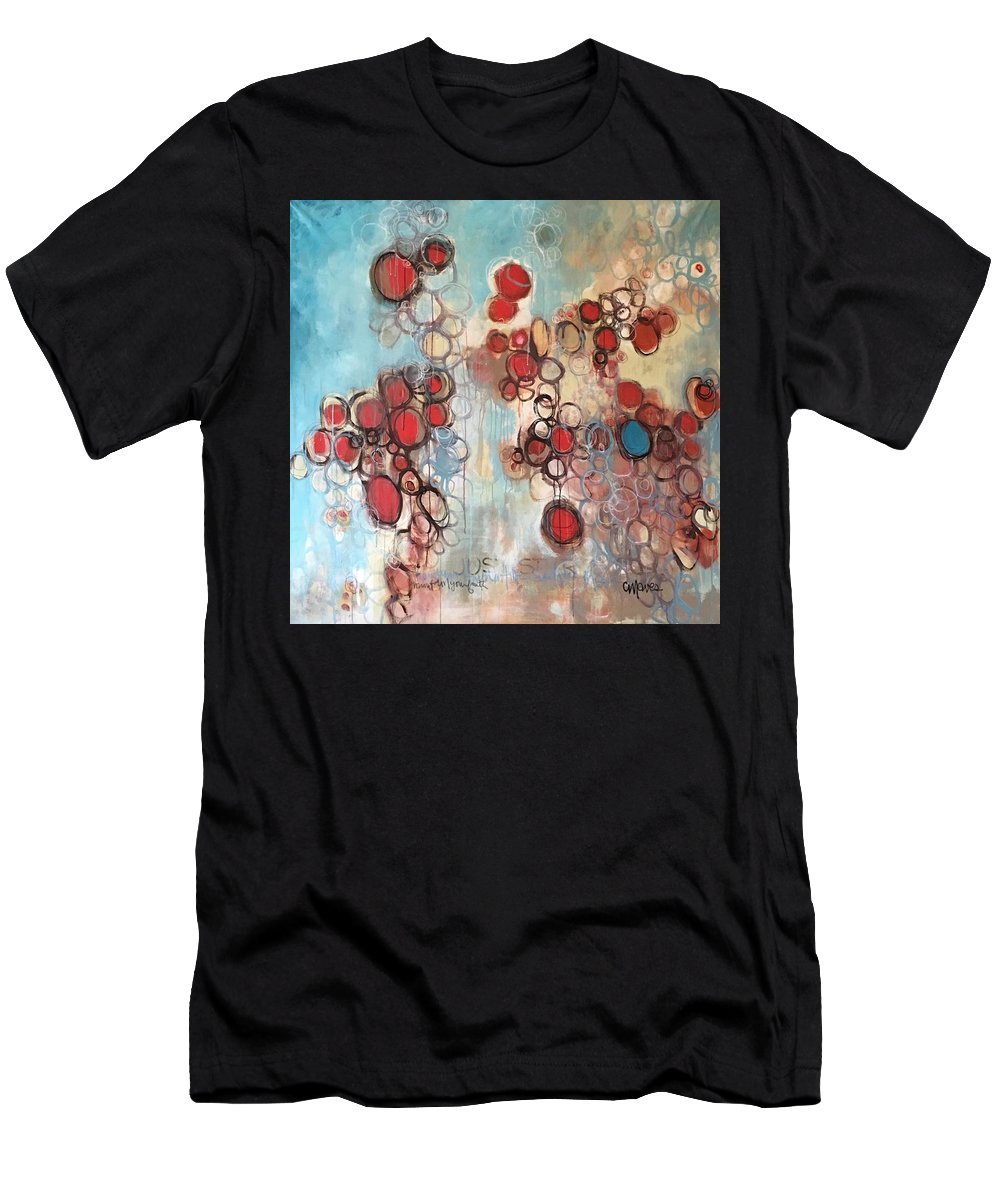 Circle Men's T-Shirt (Athletic Fit) featuring the painting Maintain Your Faith by Laurie Maves ART