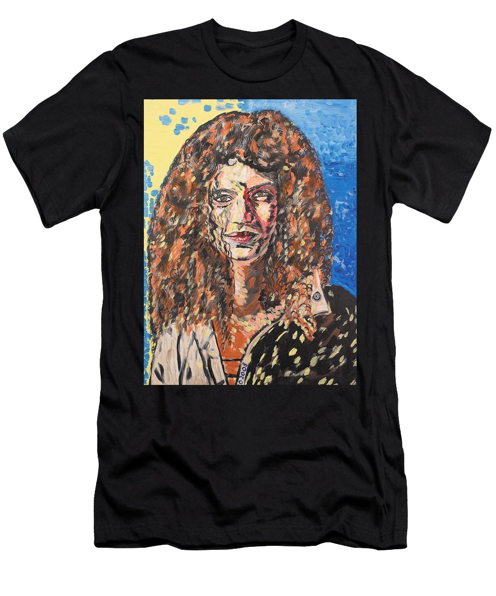 Human Men's T-Shirt (Athletic Fit) featuring the painting Maja by Valerie Ornstein