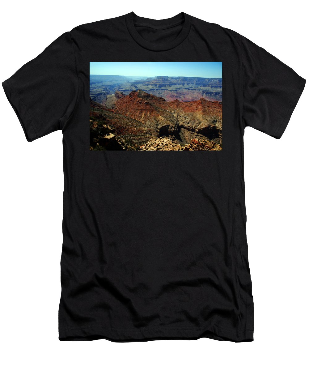 Grand Canyon Men's T-Shirt (Athletic Fit) featuring the photograph Majestic View by Susanne Van Hulst