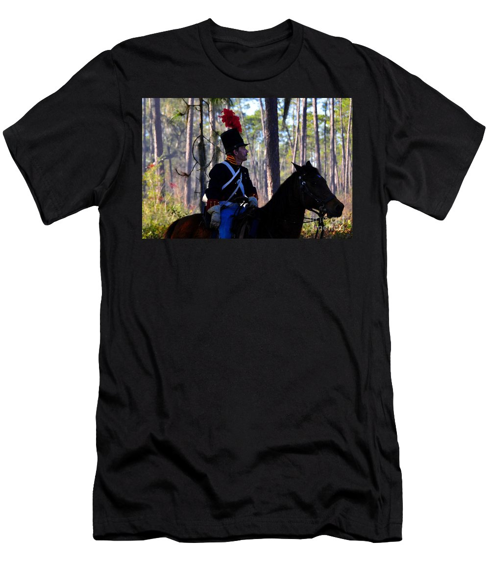 Major Frances L. Dade Men's T-Shirt (Athletic Fit) featuring the painting Major Francis L. Dade 1835 by David Lee Thompson