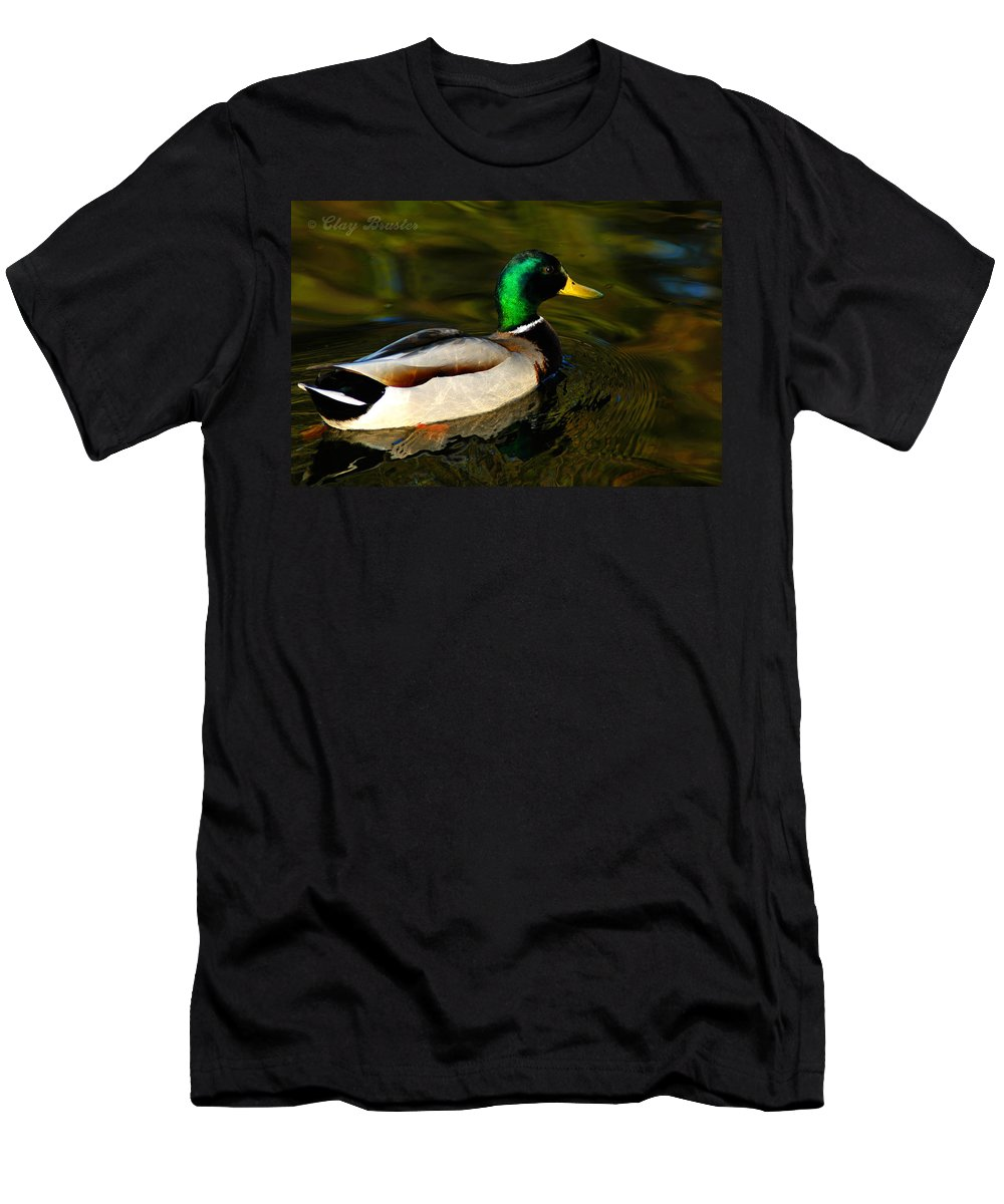 Clay Men's T-Shirt (Athletic Fit) featuring the photograph Mallard Green by Clayton Bruster