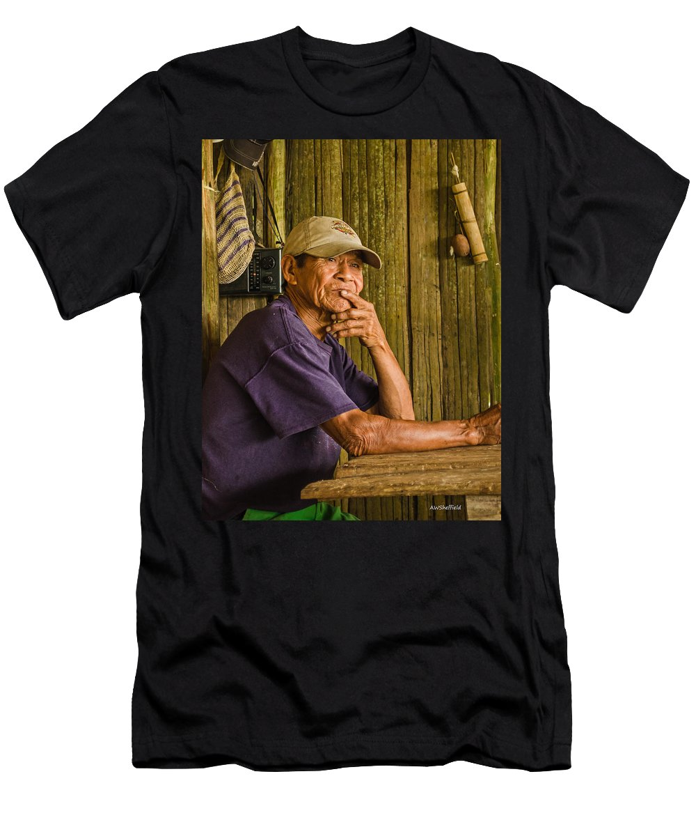 Peru Men's T-Shirt (Athletic Fit) featuring the photograph Man Of The House by Allen Sheffield