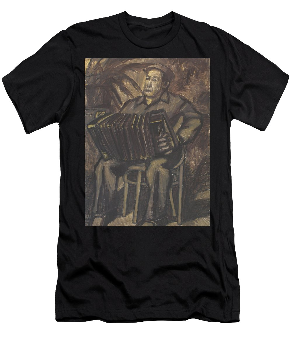 People Men's T-Shirt (Athletic Fit) featuring the painting Man by Robert Nizamov