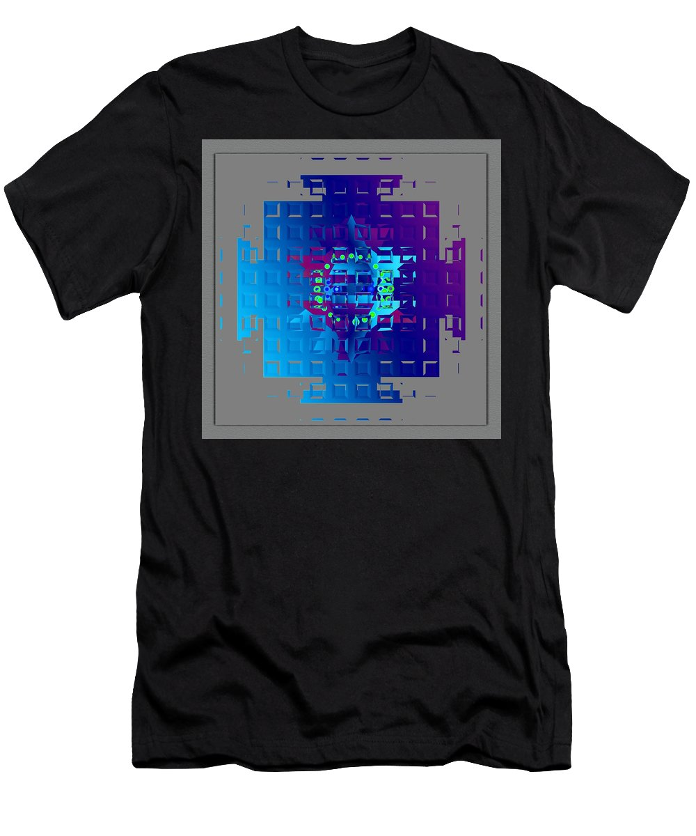 Digital Art Style Men's T-Shirt (Athletic Fit) featuring the digital art Mandala Mystical by Mario Carini