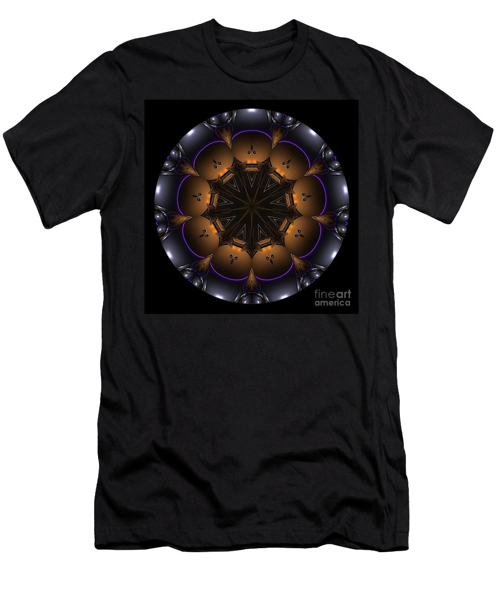 Talisman Men's T-Shirt (Athletic Fit) featuring the digital art Mandala - Talisman 1431 by Marek Lutek